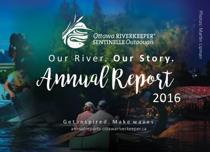 Ottawa Riverkeeper 2016 Annual Report