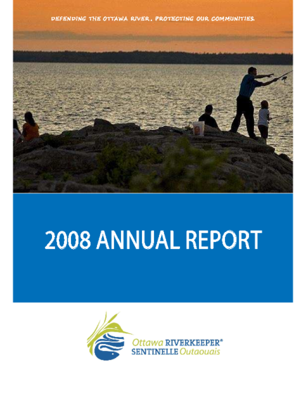 Ottawa-Riverkeeper-Annual-Report-2008