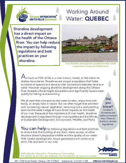 Working Around Water – Quebec